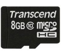 Карта памяти Transcend microSDHC 8 GB Class 10 без адаптера