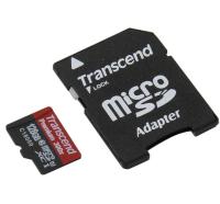 Карта памяти Transcend microSDXC 128GB Class 10 UHS-I Premium c адаптером