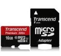 Карта памяти Transcend microSDHC 16GB Class 10 UHS-I Premium без адаптера