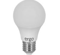Светодиодная лампа Ergo Standard A60 Е27 6W 220V теплый белый 3000K Мат. н/Ди