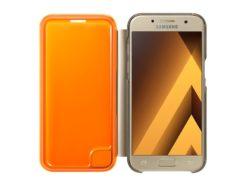 Фирменный чехол для Samsung A3 2017 A320 - Neon Flip Cover (Gold) купить
