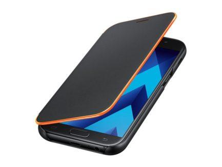 чехол для Samsung A5 (2017) A520 - Neon Flip Cover (Black) купить