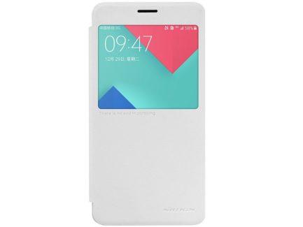 чехол для Samsung A7 2016 - Nillkin Sparkle series (White)